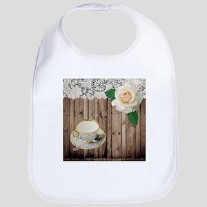 floral tea cup vintage Baby Bib
