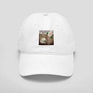 floral tea cup vintage Cap