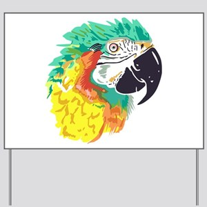 Macaw Parrot Yard Sign