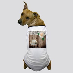 floral tea cup vintage Dog T-Shirt