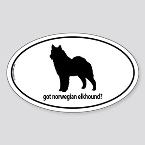 Got Norwegian Elkhound? Oval Sticker