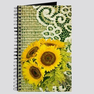 lace burlap sunflower western country Journal