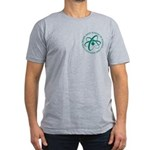 Green Atom Gray Men's Fitted T-Shirt