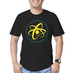 Green & Gold Atom Men's Fitted T-Shirt