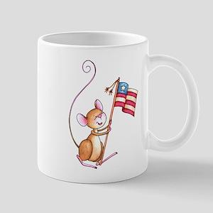 Mouse With USA Flag Mug