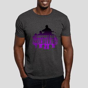 I support soldiers Violet Dark T-Shirt