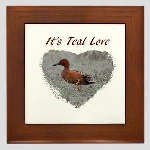 It's Teal Love! Framed Tile