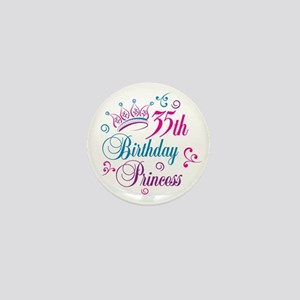 35th Birthday Princess Mini Button