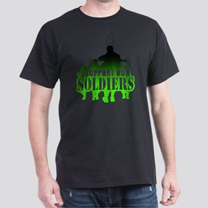 I support soldiers green Dark T-Shirt