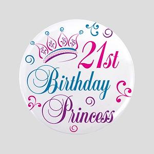 "21st Birthday Princess 3.5"" Button"
