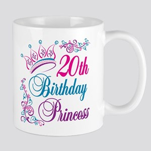 20th Birthday Princess Mug