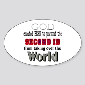 God Beer & the 2ID Oval Sticker