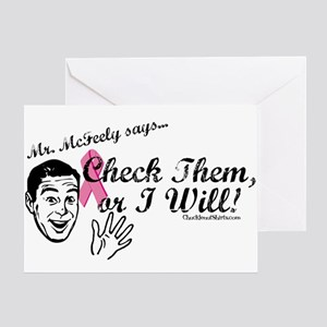 Check them, or I will! Greeting Card