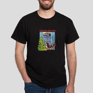 Chocolate Lab Christmas Dark T-Shirt