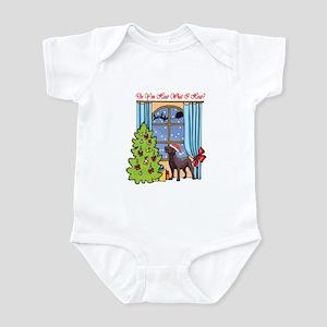 Chocolate Lab Christmas Infant Bodysuit