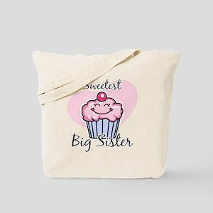 Sweetest Big Sister Tote Bag