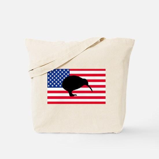 U.S. Kiwi Flag Tote Bag
