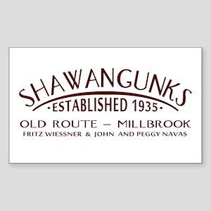 Shawangunks First Ascent Sticker (Rectangle)