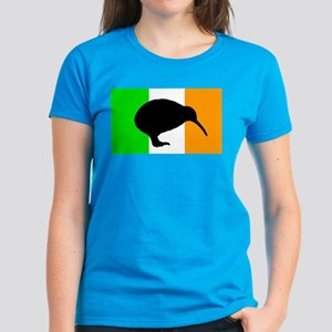 Irish Flag Kiwi Women's Dark T-Shirt