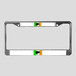 Irish Flag Kiwi License Plate Frame