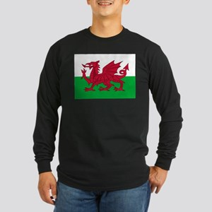 Welsh flag of Wales Long Sleeve Dark T-Shirt