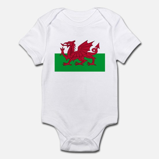 Welsh flag of Wales Infant Bodysuit