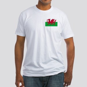 Welsh flag of Wales Fitted T-Shirt