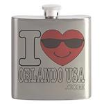 I Love Orlando USA Flask