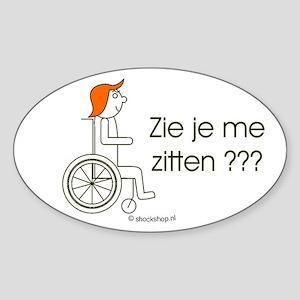 Sticker Zie je me zitten ???