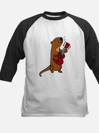 Sea Otter Playing Guitar Baseball Jersey