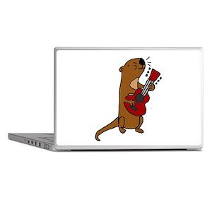 Sea Otter Playing Guitar Laptop Skins
