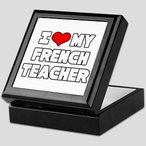"""I Love My French Teacher"" Keepsake Box"