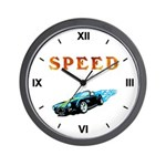 Flames and Speed Wall Clock