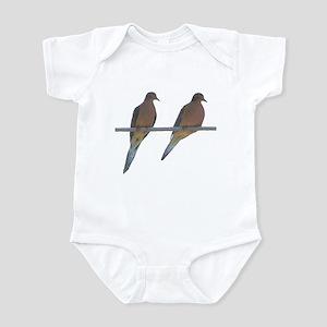 Retro Doves Happy Anniversary Infant Bodysuit