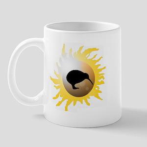 Sunburst Kiwi Silhouette Mug
