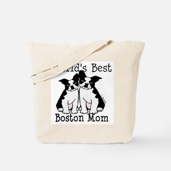 World's Best Boston Mom Tote Bag