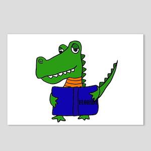Alligator Reading Florida Postcards (Package of 8)