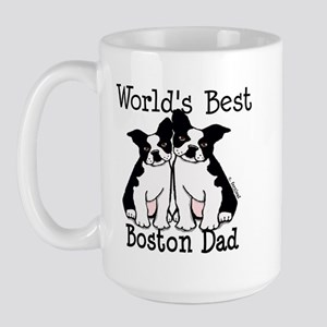 World's Best Boston Dad Large Mug