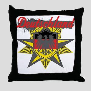 Deutschland Star Throw Pillow