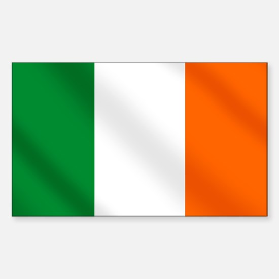Irish flag of Ireland Rectangle Decal