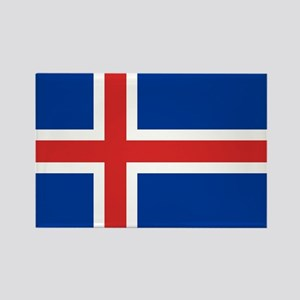 Flag of Iceland Rectangle Magnet