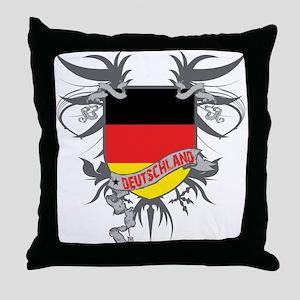 Deutschland Winged Throw Pillow
