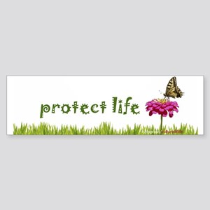 Protect Life Butterfly Bumper Sticker