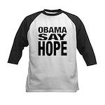 Obama Say Hope Kids Baseball Jersey