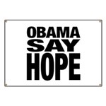Obama Say Hope Banner