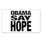 Obama Say Hope Rectangle Sticker 50 pk)