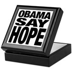 Obama Say Hope Keepsake Box