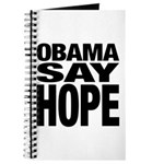 Obama Say Hope Journal