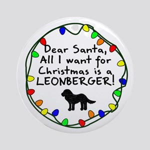 Dear Santa Leonberger Christmas Ornament