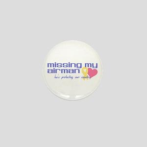 Missing My Airman Mini Button